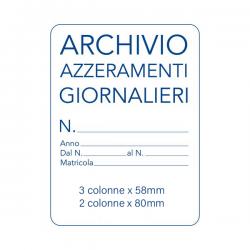 Archivio Azzeramenti...